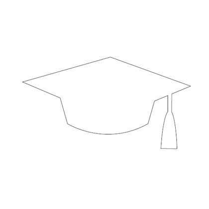 graduation caps printable mortar board pattern