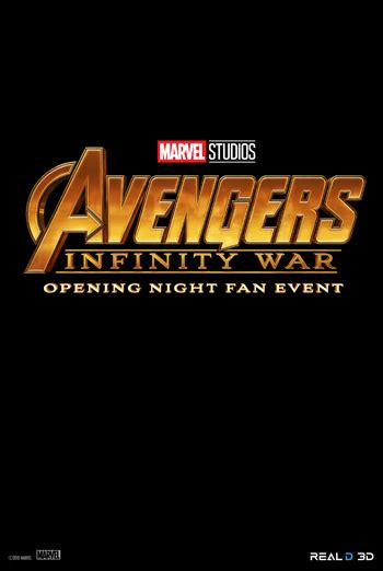 opening night fan event star wars avengers infinity war opening night fan event