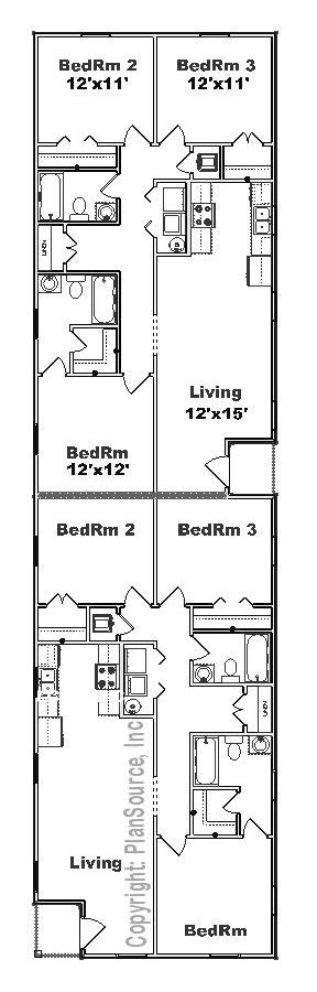 duplex floor plans for narrow lots narrow lot duplex plans