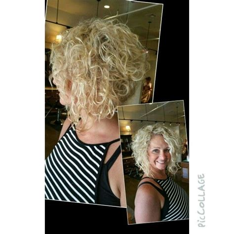 pictures of curly swing hairstyles curly blonde stacked bob wedge swing bob natural curl