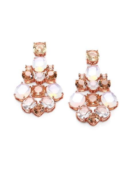 Kate Spade New York Faceted Chandelier Earrings In Pink Lyst Kate Spade Chandelier Earrings