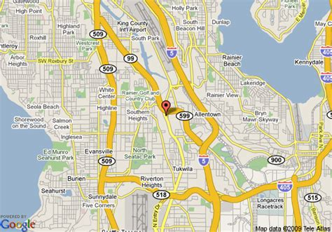 Seattle Tacoma Map by Map Of Days Inn Seattle Tacoma International Airport Seattle