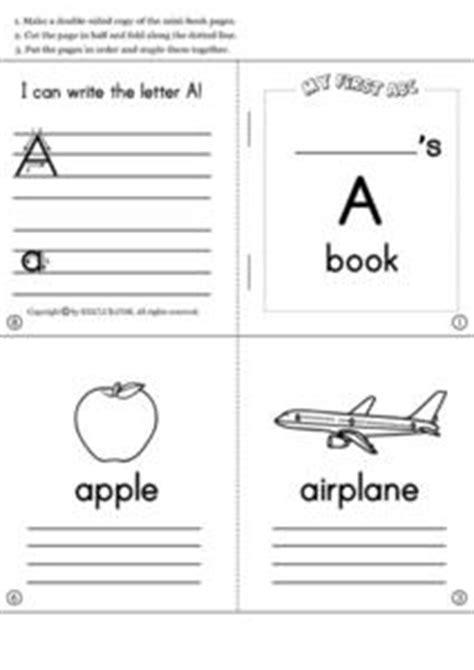 Alphabet Mini Books Pre K 1st Grade Printables Template Lesson Planet Alphabet Book Template