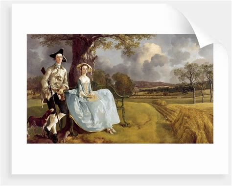 Robert Andrews Gift Card - portrait of robert andrews and his wife frances mary carter posters prints by thomas