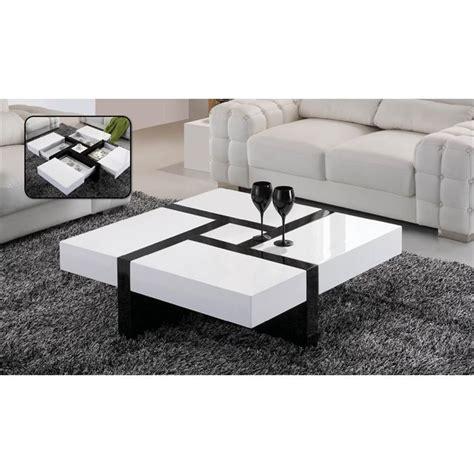 Table Basse Noir Et Blanc