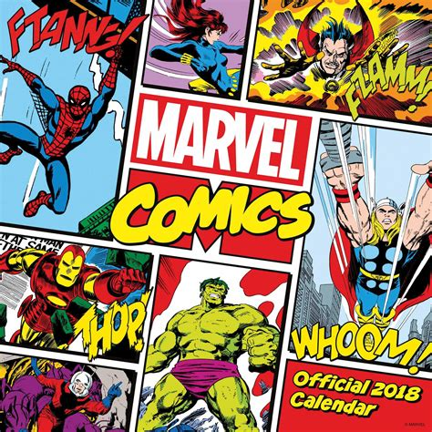 2018 of marvel wall calendar day marvel comics calendar 2018 calendar club uk