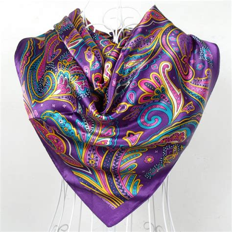 buy sping autumn satin scarf big square scarves