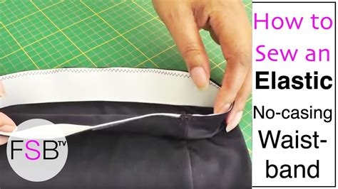 how to do a sew in to cover shaved sides sewing an elastic waistband with no casing youtube