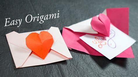 youtube tutorial origami love easy origami heart envelope tutorial henry phạm youtube