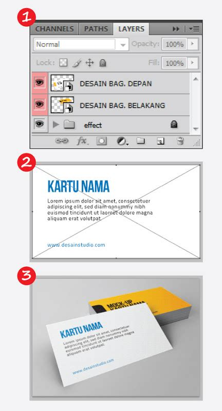 tutorial photoshop kartu nama gratis mock up kartu nama desainstudio tutorial