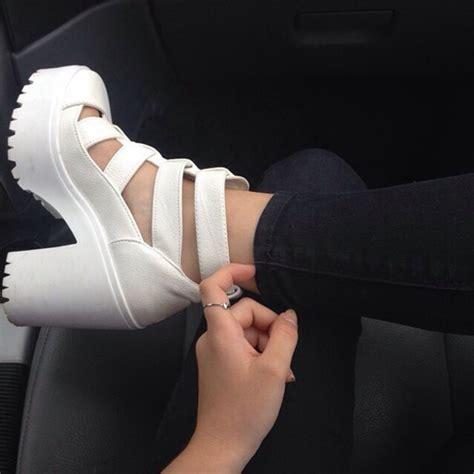 Wedges Pastel Series shoes white shoes platform wedges wedges platform