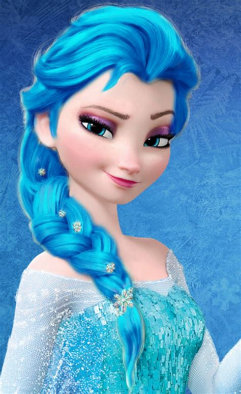elsa free free elsa blue hair picture free elsa blue hair photo