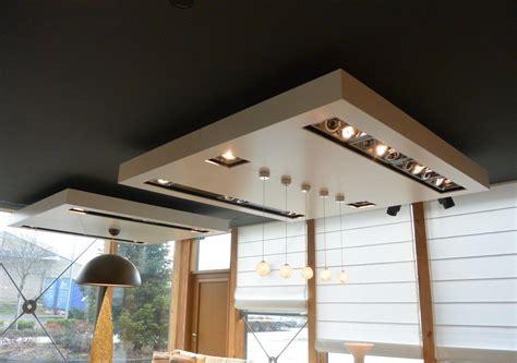 Spot Intégré Plafond cuisine plafond pl 195 162 tre moderne avec spot d 195 169 co salon