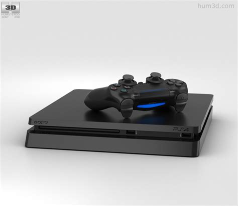 Sony Playstation 4 Slim sony playstation 4 slim 3d model hum3d