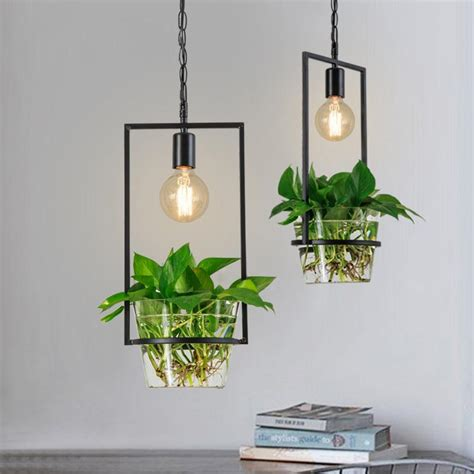 plant light hanging plant frame pendant light tudo and co tudo and co