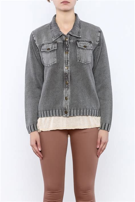 knit denim jacket pbj blues knit denim jacket from cambria by new moon