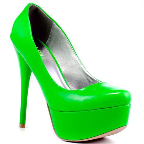 green high heels neon green platform heels is heel