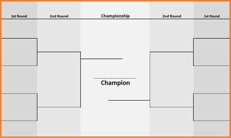 tournament template 4 team tournament bracket images