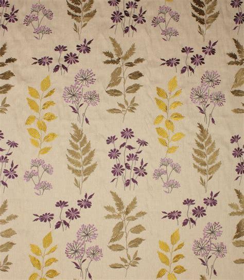 Botanical Upholstery Fabric botanical fabric violet just fabrics