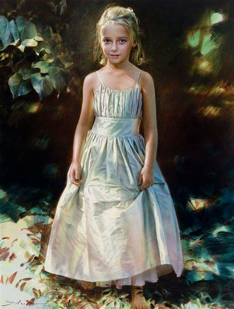 little girl art little girl portrait painting by robert schoeller