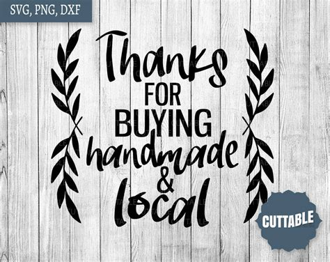 handmade  local cut file small business quote