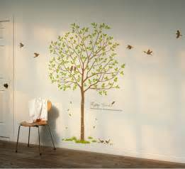 Tree Sticker Wall Decor birds amp tree vinyl wall decals wallstickery com
