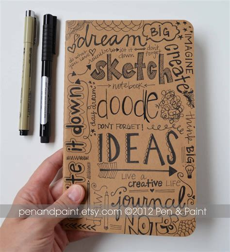 sketch book with leather cover notebook journal diary sketchbook idea book