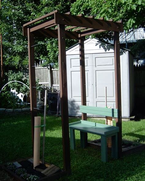 grape arbor  bench   small space