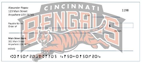 Uc Background Check Order Nfl Cincinnati Bengals Checks Football Checks