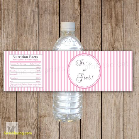 baby shower bottle labels template unique free printable water bottle label template best