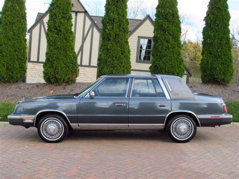 Chrysler K Car For Sale by 1984 Chrysler New Yorker K Car Only 33 000 All