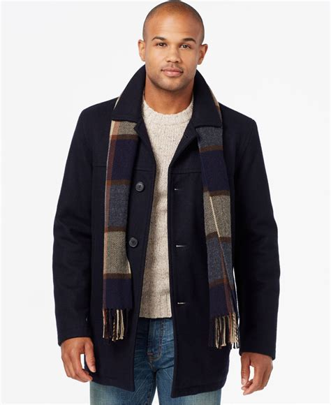 Syal Scarf Twilly Choker Scarf Bowknot Navy Blue Sheeptwch06 Mens Pea Coat With Scarf Www Imgkid The Image Kid