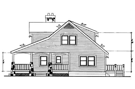 house elevation dimensions stunning craftsman house plans altadena 41 006 associated
