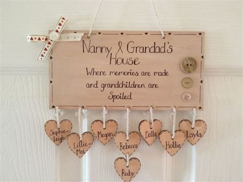 Handmade Grandparent Gifts - special grandparent gift handmade wooden gifts
