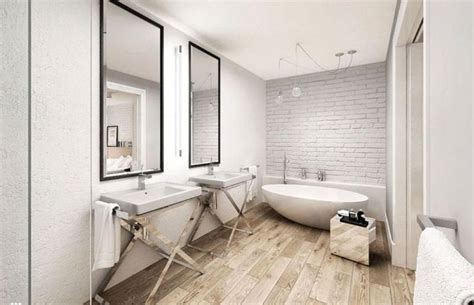 Wood Floors In The Bathroom by Wooden Floor In 20 Bathroom Designs Rilane