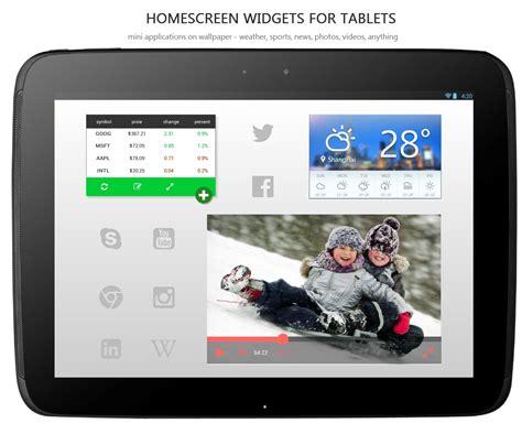 tablet widgets homescreen widgets tablet ux factor design