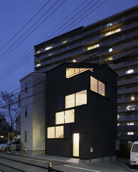 designboom japanese house alphaville s house in osaka features staggered windows