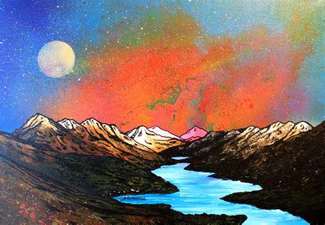 spray painting scotland paintings prints of loch lomond ben lomond luss