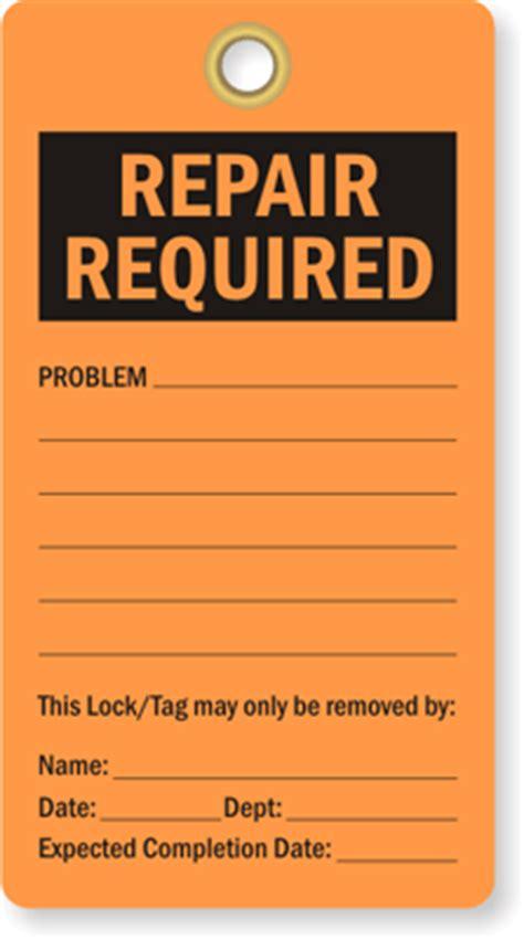 printable repair tags industrial repair tags equipment repair tags