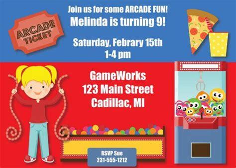 Arcade Birthday Invitations Printable Arcade Invitation Template