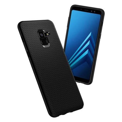 Original Spigen Liquid Air Armor Galaxy A8 2018 Matte Black spigen 174 liquid air 590cs22747 samsung galaxy a8 2018 matte black spaceboy