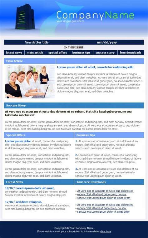 web hosting company newsletter template templatesboxcom