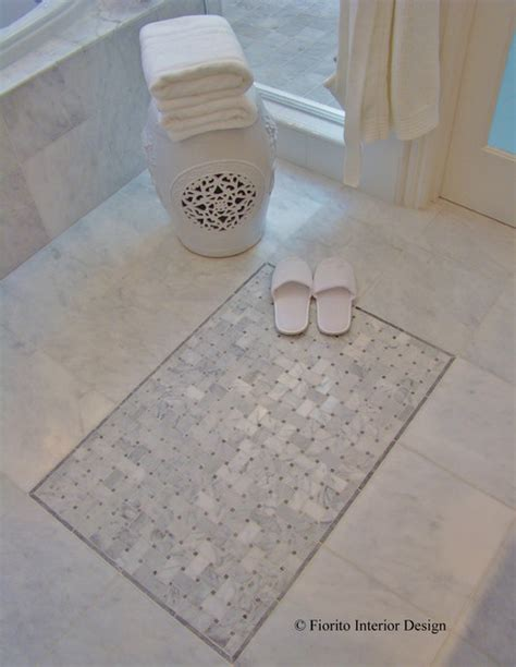 rugs for bathroom floor quot tile rug quot on bathroom floor
