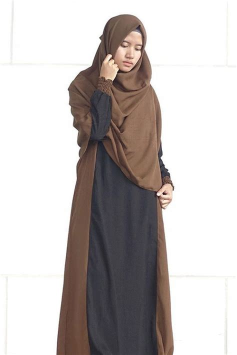 Gamis Zahwa By Elmina smart chocolate 1 set alila gamis