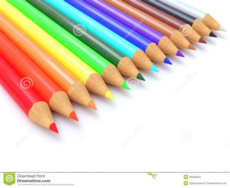 colored tims colored pencils stock illustration image of dimensional