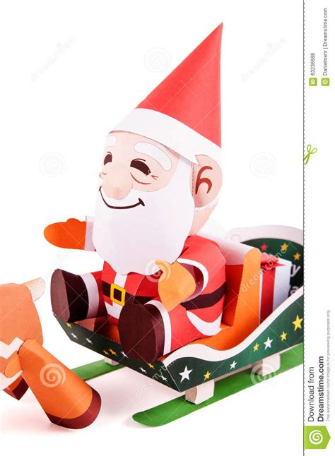 Santa Claus Paper Craft - santa claus papercraft stock illustration image 63236688