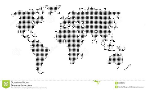 world dot map world dot in black and white royalty free stock image
