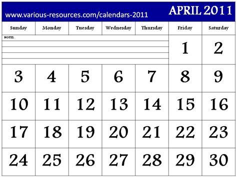 Kalender April 2011 Printable Calendars 2015 Blue April 2011 Calendar Design