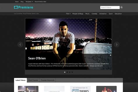 design by woo themes 30 wordpress themes with awesome dark design