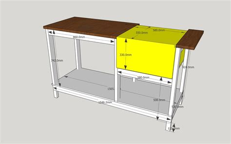 sketchup layout table woodworking dewalt table saw stand dave bywaters